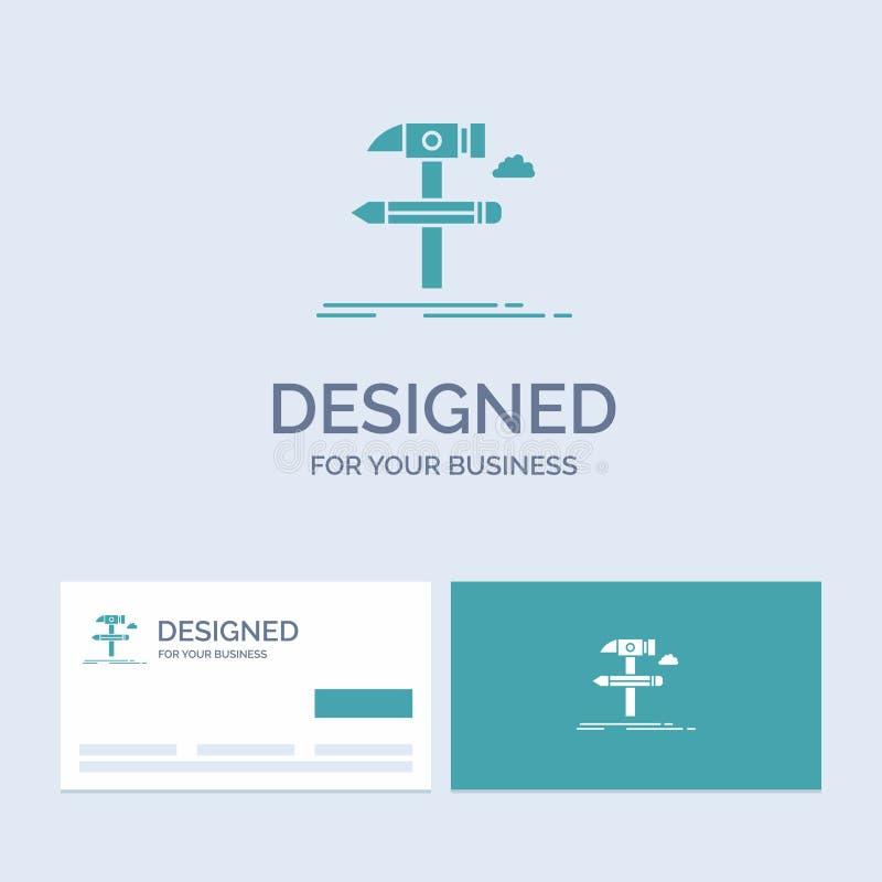Построьте, конструируйте, превратитесь, оборудуйте, символ значка глифа логотипа дела инструментов для вашего дела r бесплатная иллюстрация
