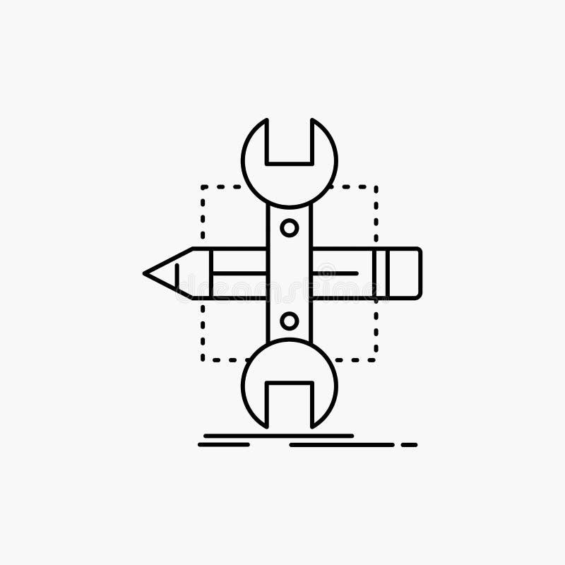 Построьте, конструируйте, превратитесь, сделайте эскиз к, инструменты выровняйте значок r иллюстрация вектора