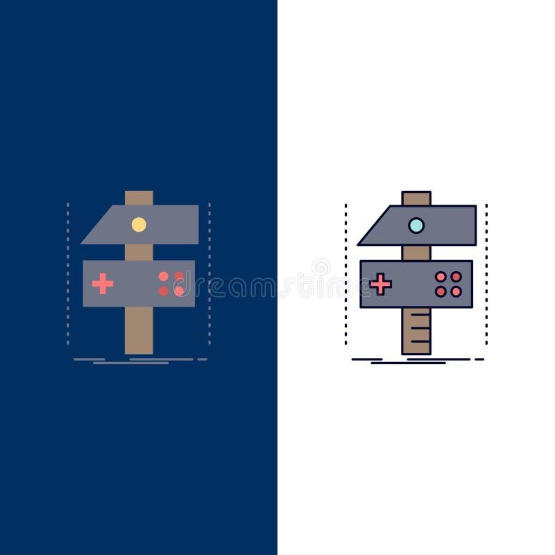 Построьте, произведите, превратитесь, разработчик, вектор значка цвета игры плоский иллюстрация штока