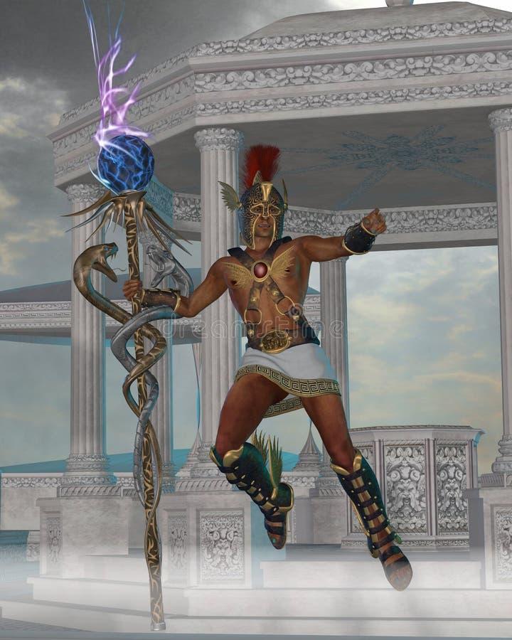 Посыльный Hermes к богам иллюстрация штока