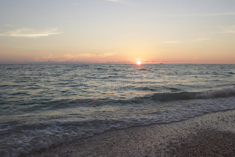 Последний свет захода солнца Флориды стоковые изображения