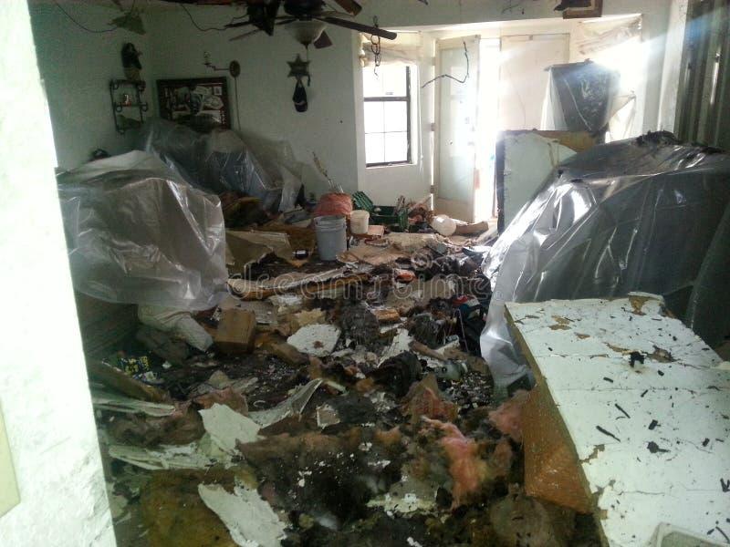 После пожара стоковая фотография rf
