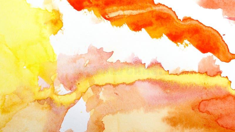 Потеки акварели Абстрактная картина ( иллюстрация вектора