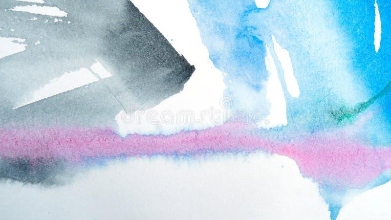потеки акварели абстрактная картина Справочная информация бесплатная иллюстрация