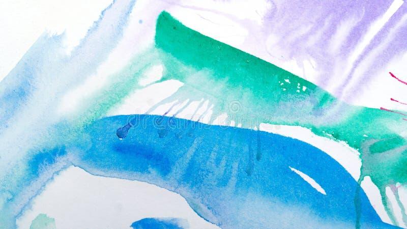потеки акварели абстрактная картина Справочная информация иллюстрация вектора