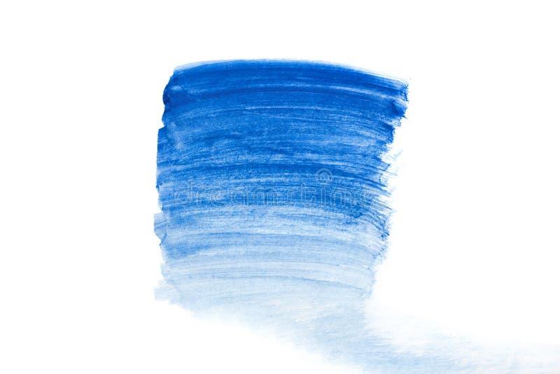 Потеки пятна яркой акварели голубые Абстрактная иллюстрация на белизне иллюстрация вектора