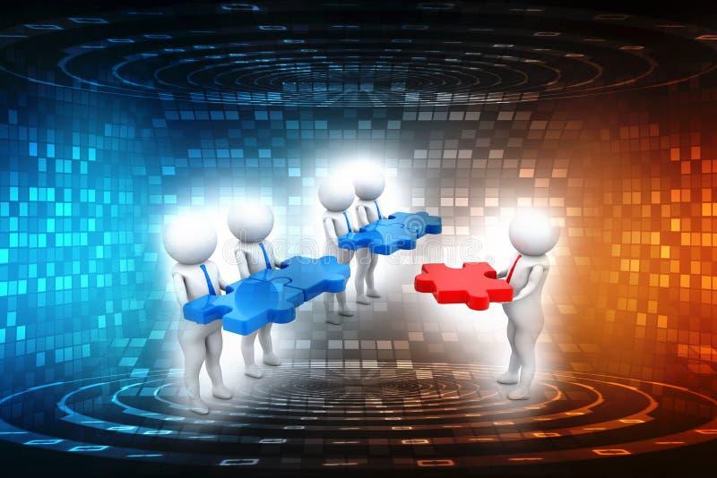 Потенциальная аудитория, бизнес лидер, руководство перевод 3d иллюстрация штока