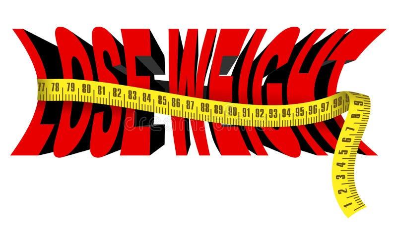 потеряйте вес иллюстрация вектора