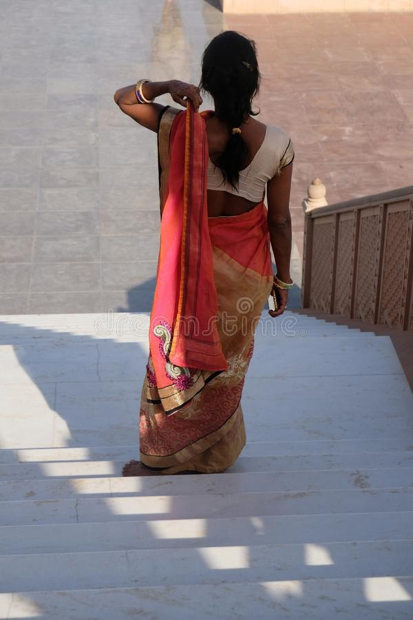 Потерянная женщина в Раджастхане, Индии стоковое фото rf