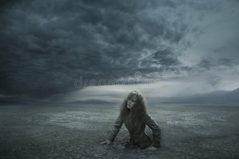 потерянная женщина стоковые фото