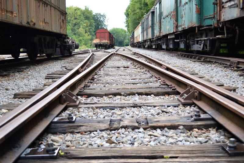 потерянные поезда стоковое фото rf