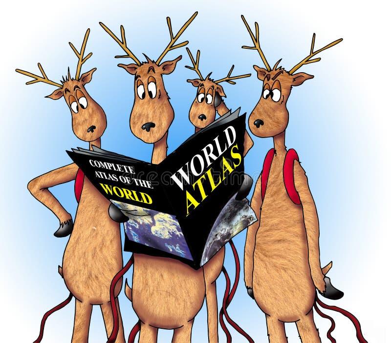 потерянный северный олень бесплатная иллюстрация