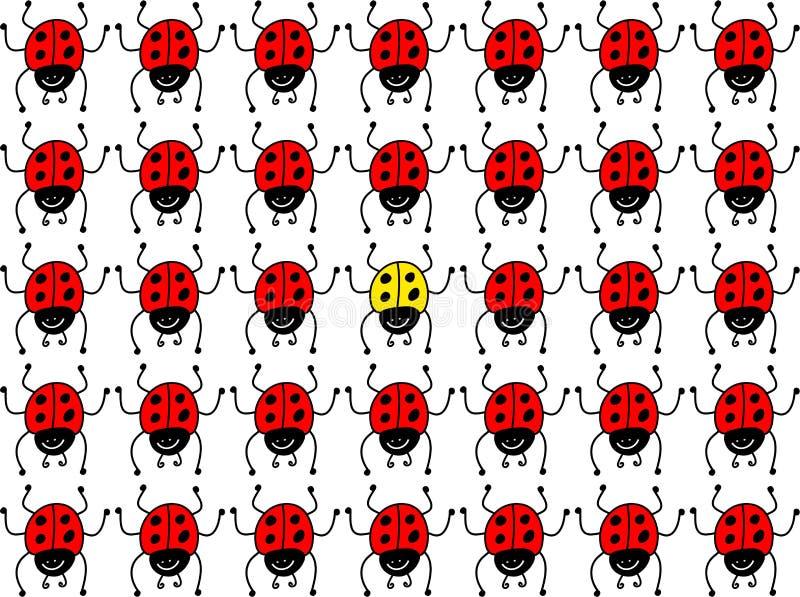 потерянный ladybug бесплатная иллюстрация