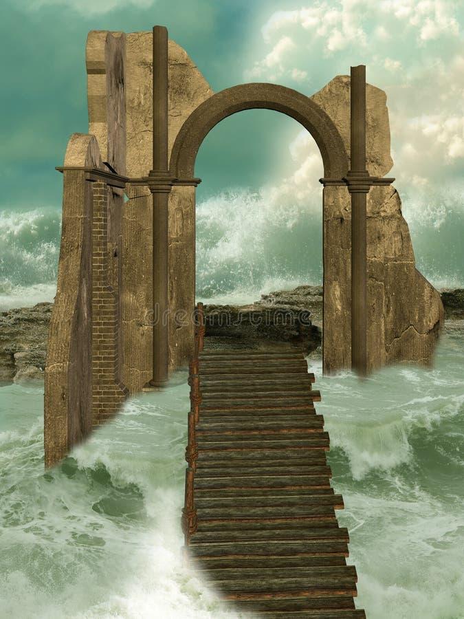 Потеряно в океане стоковые фотографии rf