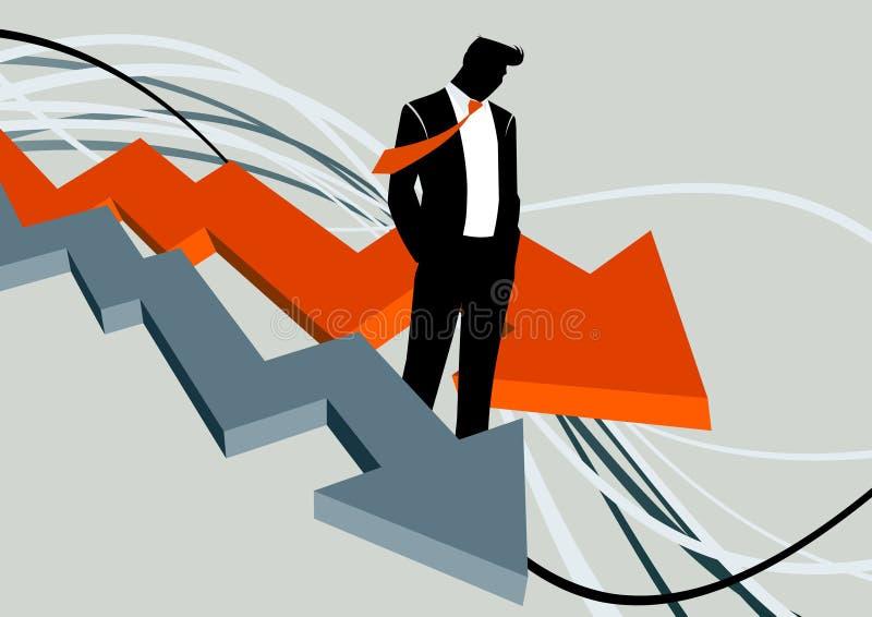 потеря бизнесмена иллюстрация вектора