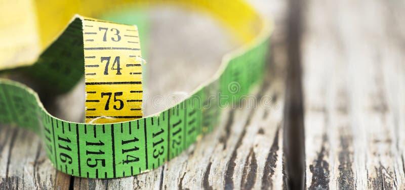 Потеря веса, концепция диеты - знамя сети рулетки стоковое фото