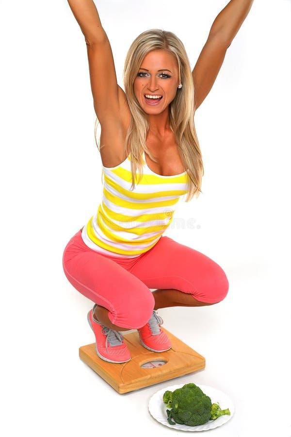 Потеря веса с здоровым питанием стоковое фото rf