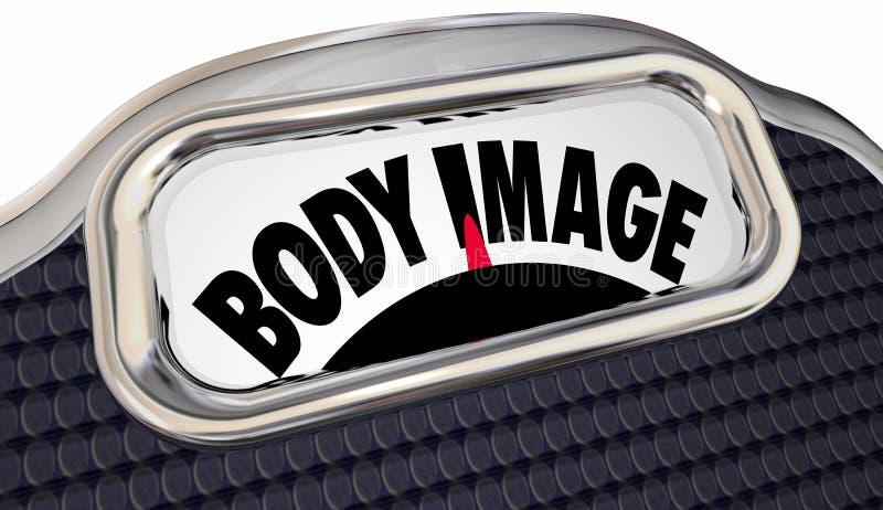 Потеря измерения масштаба BMI индекса массы тела полная тучная иллюстрация штока