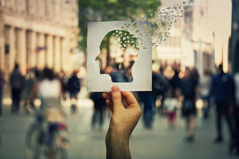 Потеря людской памяти стоковые изображения