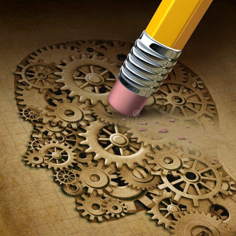 Потеря функции мозга иллюстрация вектора