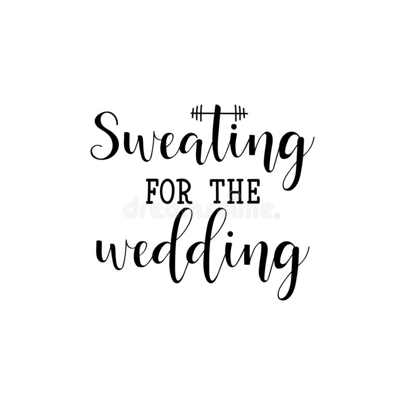 Потеть для свадьбы r E r иллюстрация штока