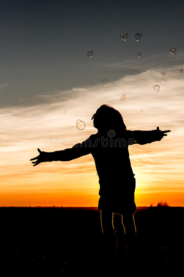 Потеха захода солнца стоковые фотографии rf