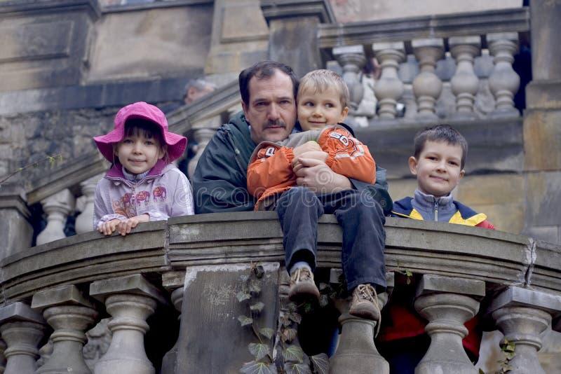 потеха семьи замока стоковое фото rf