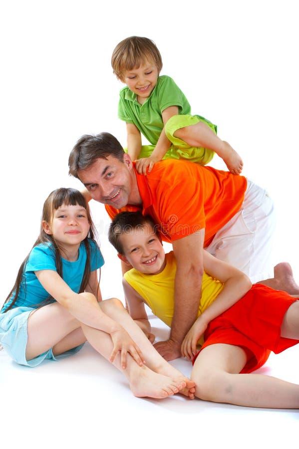 потеха семьи стоковая фотография