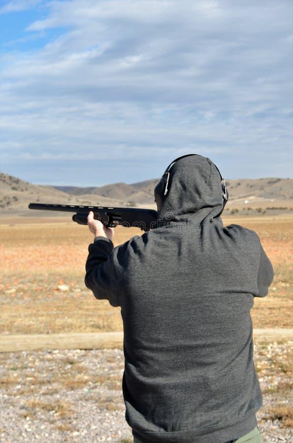 Потеха стрельбы Skeet стоковые фото
