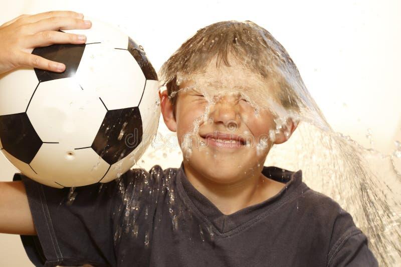 Потеха с футбольным мячом стоковое изображение rf