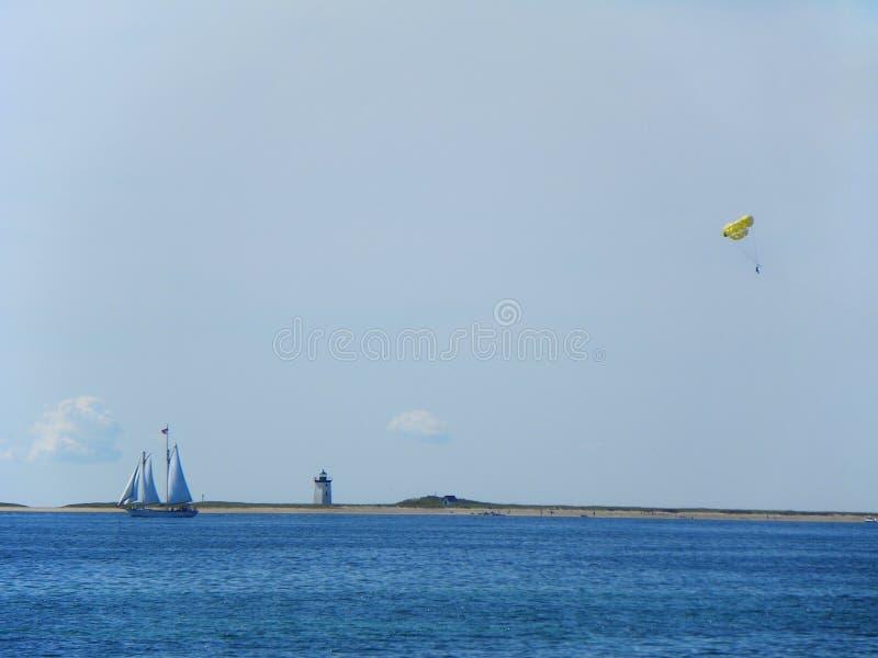 Потеха трески накидки Provincetown в солнце лета стоковые изображения rf
