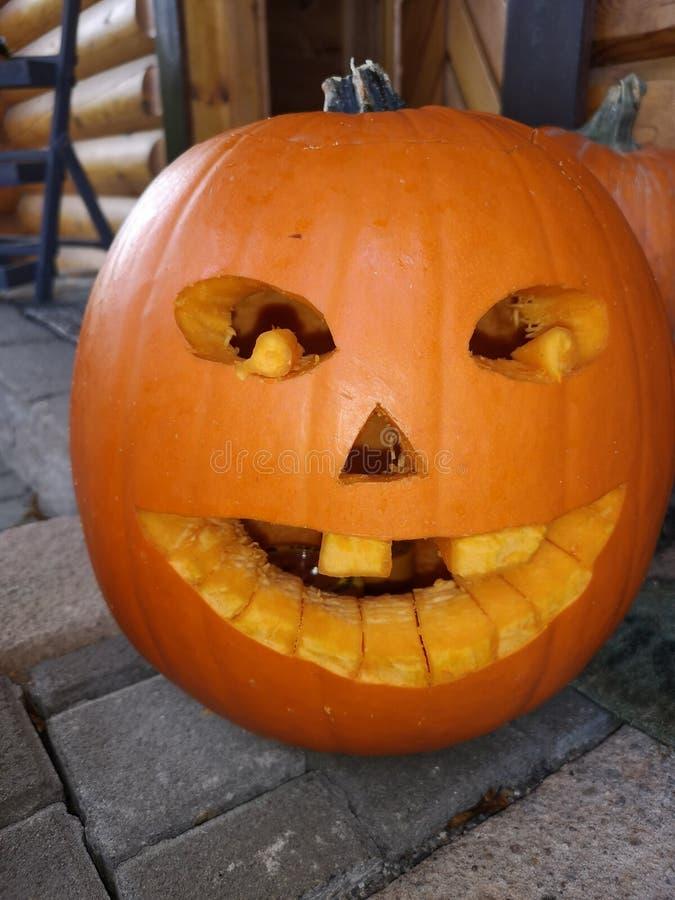 Потеха тыквы хеллоуина стоковая фотография