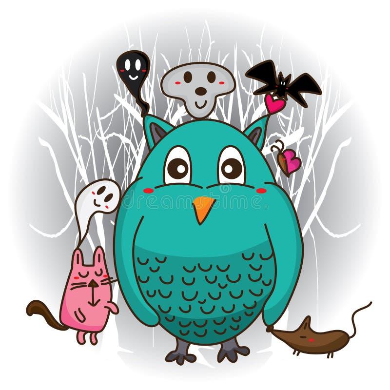Потеха хеллоуина милая бесплатная иллюстрация