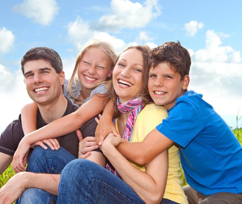 потеха 3 семей стоковое фото