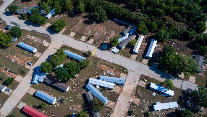Потоки изменения климата повреждения урагана и более сильные штормы стоковое фото