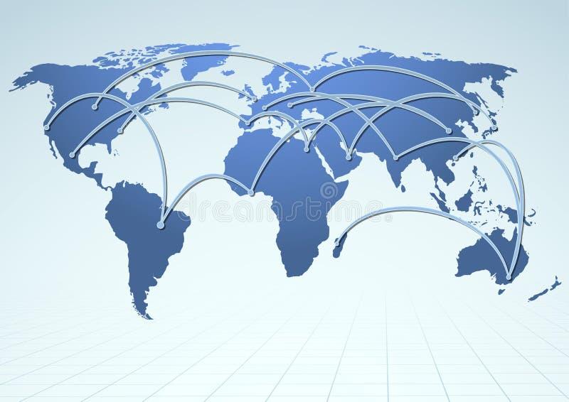 Потоки рекламы снабжения мировой торговли бесплатная иллюстрация