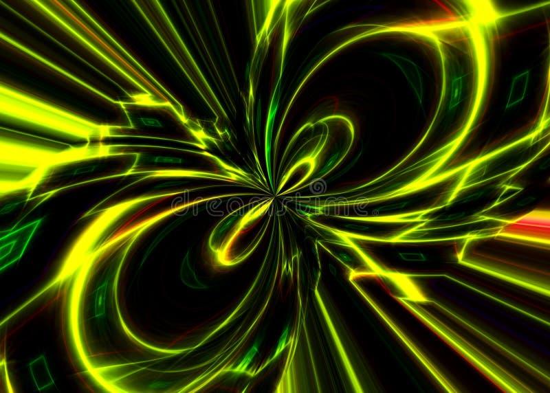 потоки энергии предпосылки черные иллюстрация вектора