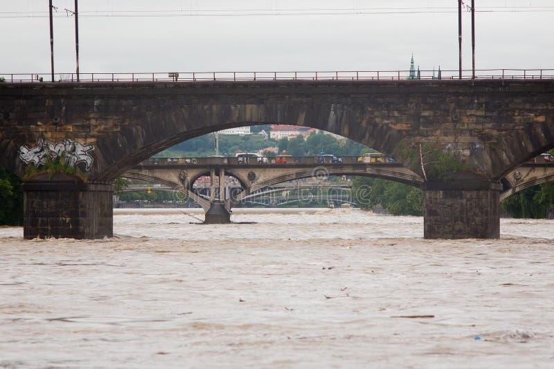 Поток в Праге стоковые изображения