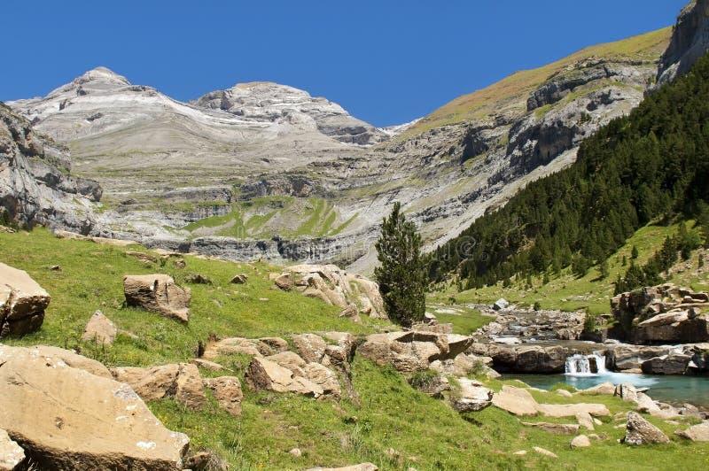 Поток горы в Пирене стоковое фото