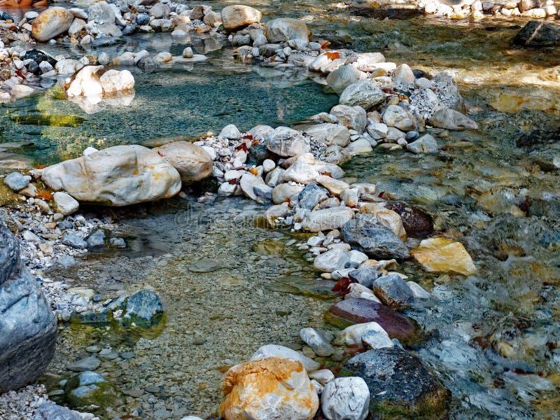 поток горы утесистый стоковое фото rf