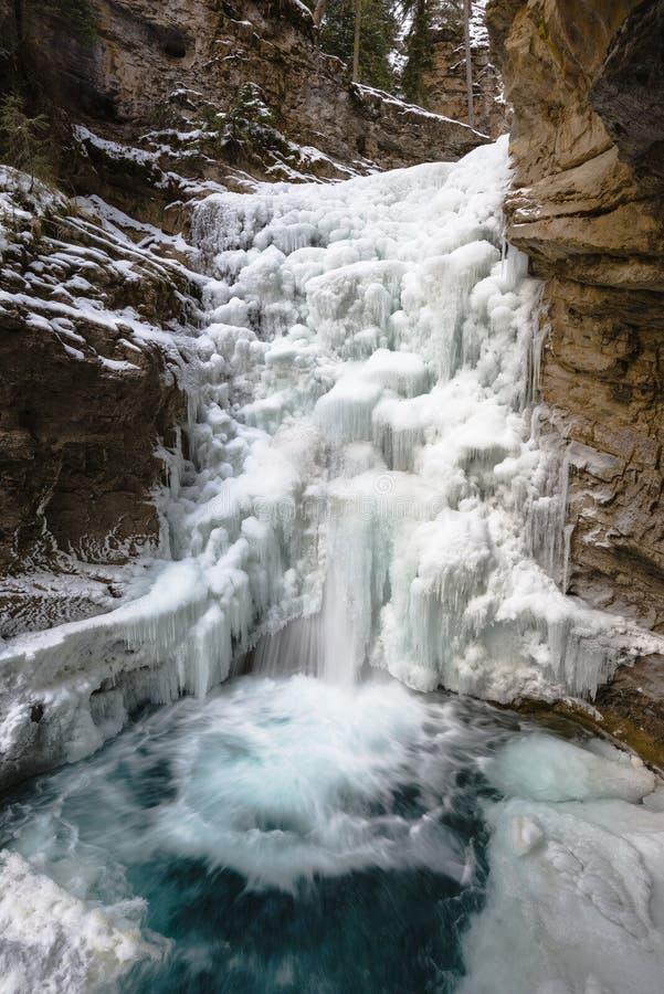 Поток зимы в каньоне Johnston стоковые изображения