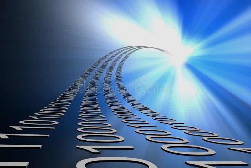 поток информации предпосылки иллюстрация вектора