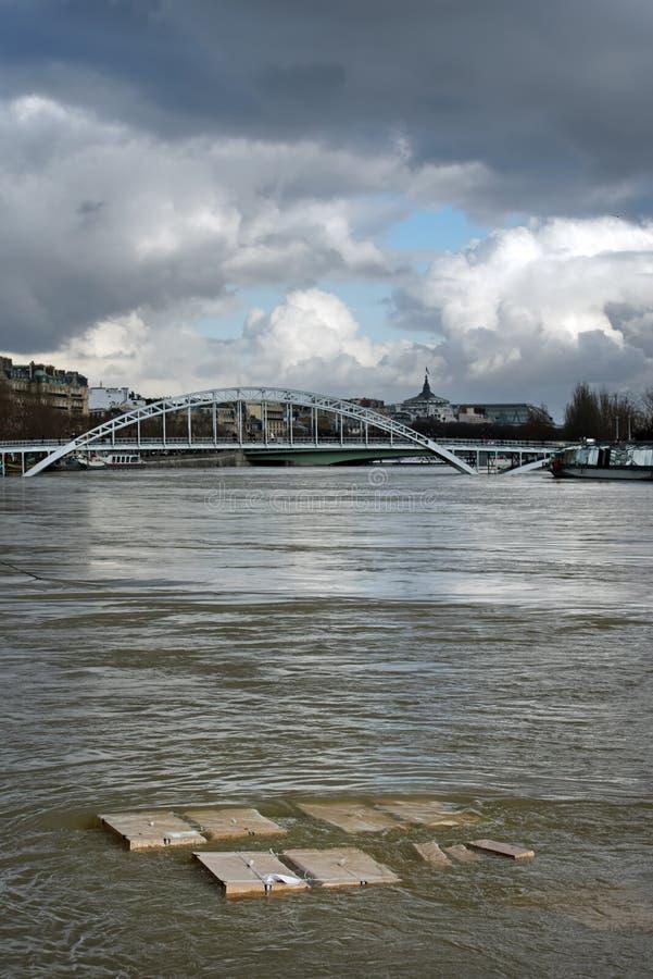 Поток Рекы Сена в Париже стоковые изображения rf