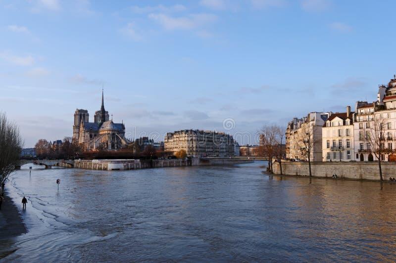 Поток Рекы Сена в Париже стоковое изображение