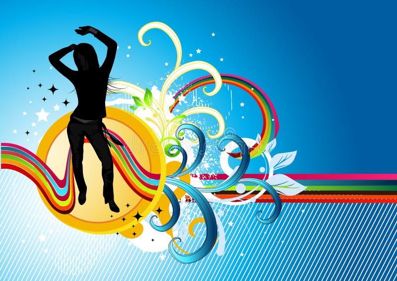 поток electro танцульки иллюстрация штока