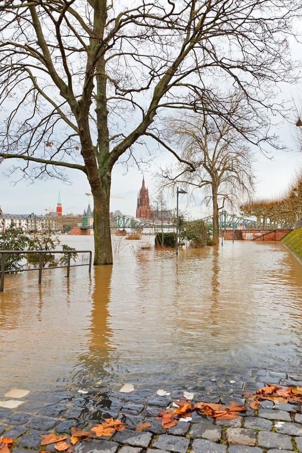 поток frankfurt стоковая фотография rf