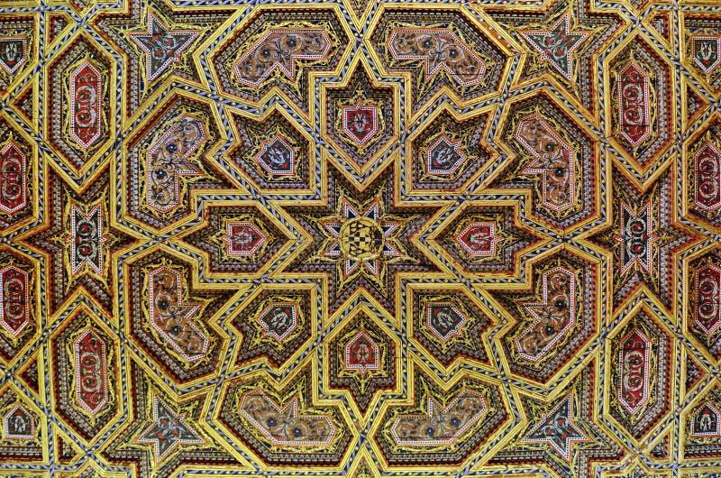 потолок богато украшенный стоковая фотография rf