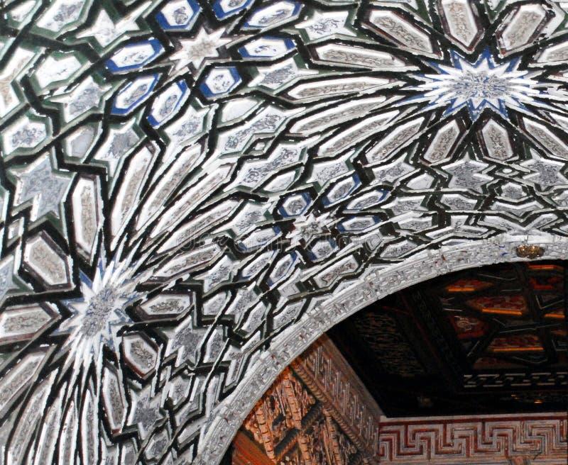 Потолок Испании Sanlucar- сравнивая конструирует городскую ратушу стоковое изображение rf