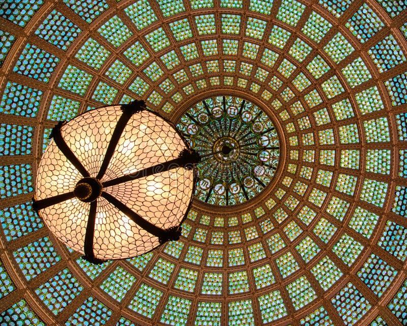 Потолок купола Тиффани стеклянный стоковая фотография