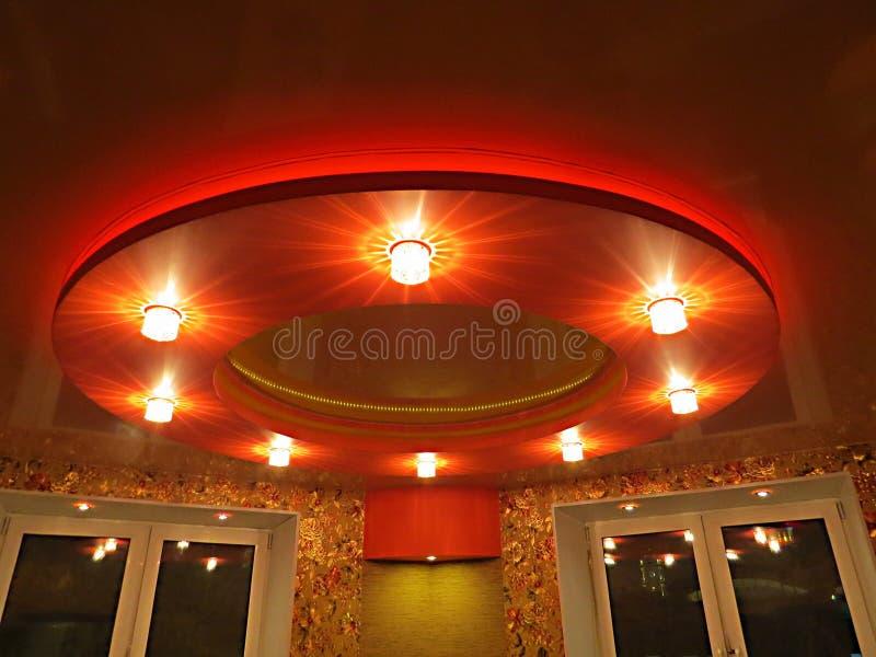 Потолок в спальне стоковые изображения rf